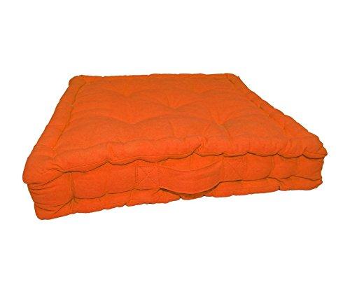 URBAN TRENDZ Solid Box Cushion with 5 Knots UT20142ORA