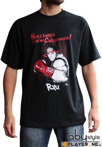 STREET FIGHTER T-Shirt Ryu schwarz groß (Fighter Street T-shirt)