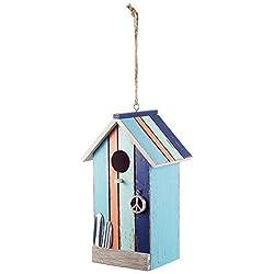 Para colgar de madera pintada diseño de casetas de playa casa de pájaros-dos diseños disponibles, naranja