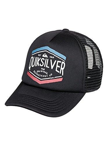 Quiksilver Crocked Out Boy Trucker Mütze, O/S, Black (Black Hat Quiksilver)