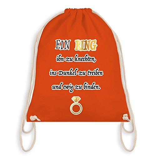 JGA Junggesellinnenabschied - Ein Ring... JGA - Turnbeutel I Gym Bag Orange