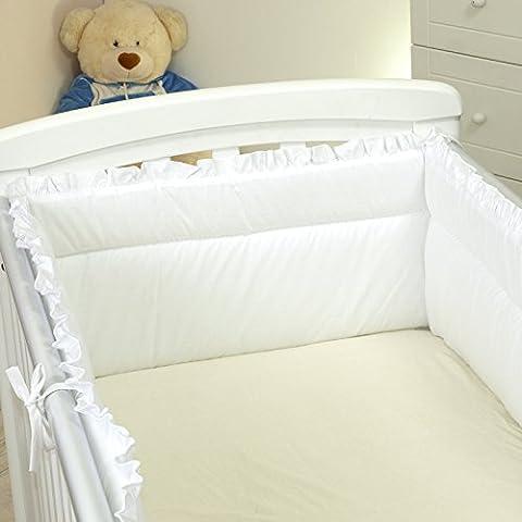 Nestchen Rüschen mit Kopfschutz für 120x60 Bett 350x30cm Bettumrandung Bett