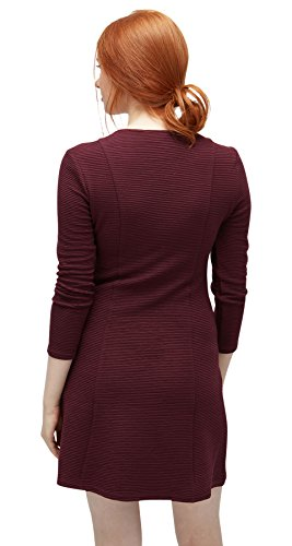 TOM TAILOR Denim Damen Kleid Double Layer Dress-Eos gipsy purple