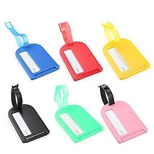 LY étiquette de bagage en plastique (couleurs assorties)