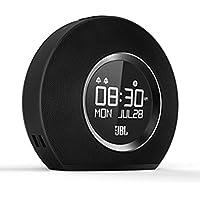 JBL Horizon - Radio Despertador de doble alarma inalámbrico Bluetooth con puerto de carga USB y Luz LED Ambiental Despertar de Amanecer, color negro