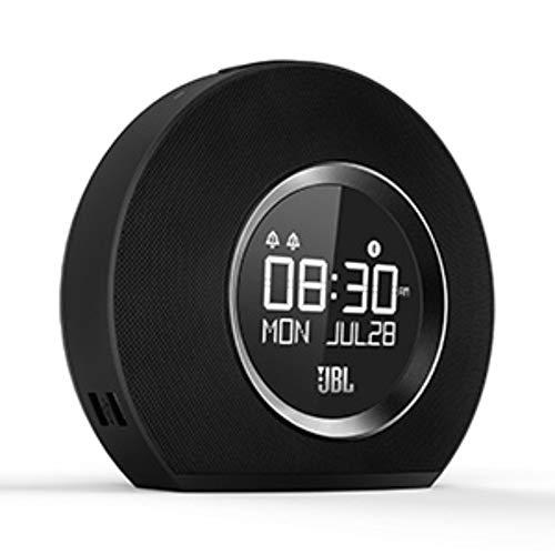 Oferta de JBL Horizon - Radio reloj Bluetooth con carga USB y luz ambiental, con 2 alarmas, radio FM, pantalla LCD, batería de reserva y sonido estéreo JBL