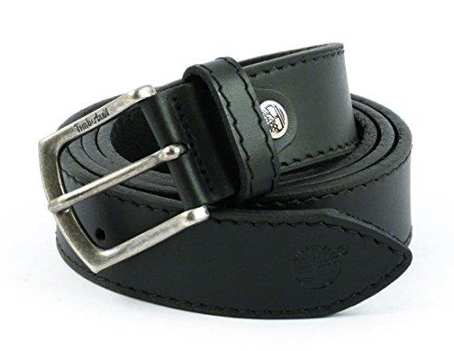 Cintura in pelle Timberland M4365 (Nero, M (115 cm) accorciabile)