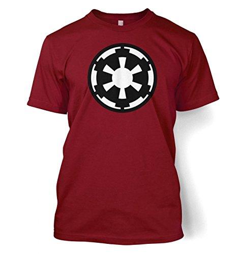 Galactic Empire flag / logo t-shirt - Star Wars (Small (34/36)/Cardinal Rot) (T-shirt Erwachsene Cardinal S/s)