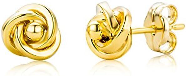 Miore Damen-Ohrstecker Knoten 375 Gelbgold 6mm