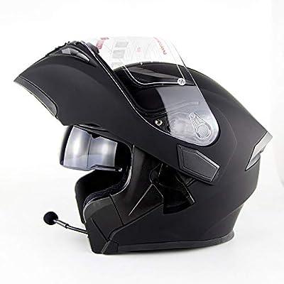 DYM258 Bluetooth Helmet Flip Up Full Face motorcycle Motorbike Helmet With Bluetooth Headset Antifogging Dual Lens D.O.T Approved Man Women for ATV/MX/DH/MTB/UTV/Enduro from DYM258