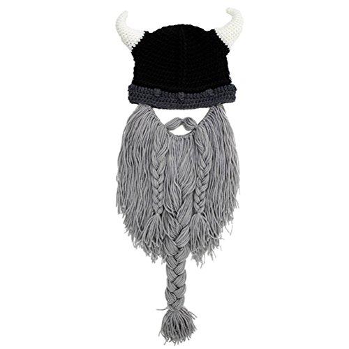 Kostüm Niedliche Wikinger - YeahiBaby Handgefertigte Wikinger Helm und Bärtige, Halloween Viking Piratenkostüm