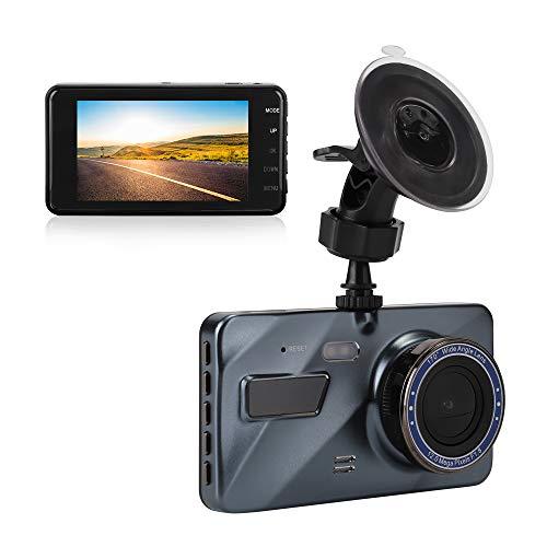 FREESOO Caméra de Voiture 4' 1080P FHD 170 ° Grand Angle avec G-Capteur WDR Moniteur de Stationnement Voiture Enregistreur de Conduite Vision Nocturne Enregistrement en Boucle Détection de...