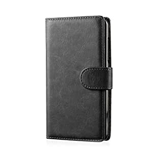 32nd Book wallet PU leather case cover for HTC One ME mobile phone, including screen protector, cleaning cloth and touch stylus - Black