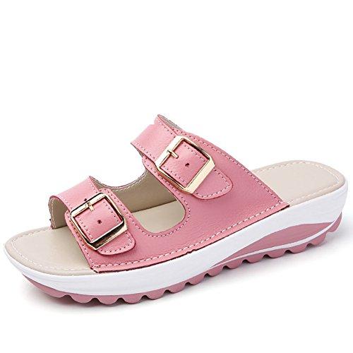 Sandali Fashion Beach/Pendenza E Antiscivolo Pantofole In Pelle Morbida C