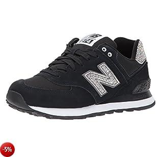 New Balance 574, Sneaker Donna, Nero (Black), 39 EU