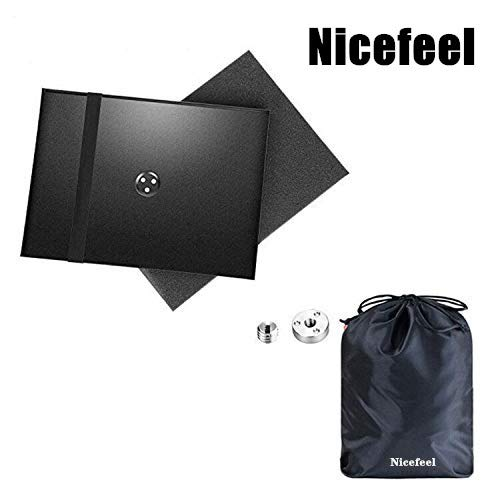 Projector Tray - Laptop Notebook Pallet for 1/4 to 3/8 inches Screw Tripod Stand Mount, Widely Use in Stage, Meeting Rooms, Outdoor, Classrooms, Lecture Halls, by Nicefeel (Storage Bag Included)