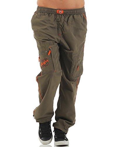 SUCCESS Kinder Jungen Cargo Hose Casual Wear Knaben Chino Stoff Hose 5 Pocket Regular Fit Freizeithose (134, 6066-olive)