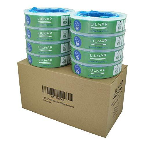 LILNAP - Nachfüllkassetten für Angelcare Windeleimer (8 Stück)