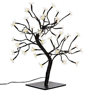 Nipach GmbH 48 LED Baum mit Blüten Blütenbaum Lichterbaum warm weiß 45 cm hoch Trafo IP20 Timer Weihnachtsbeleuchtung Weihnachtsdeko Lichterdeko Xmas