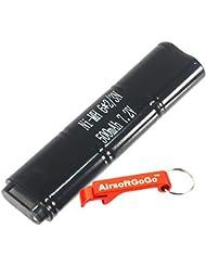 CYMA 7.2V 500mAh Ni-MH Micro Battery for CM030 CM121 CM122 CM123 Marui 18C, P8, M93R AEP AEG by AirsoftGoGo