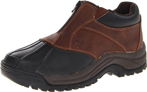 Propet Men's Blizzard Ankle Zip Boot,Brown/Black,11 D US