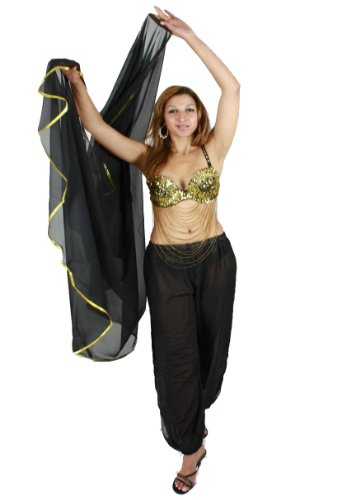 Bauchtanzschleier Bauchtanz Orientalischer Tanz Schleier in Halbrund-Form - Farbe: ()