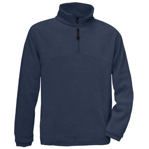 B&C Herren Fleece Top Higlander+, 1/4 Zip (M) (Marineblau) -