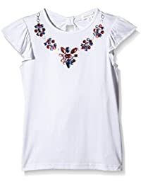 Pumpkin Patch Girl's Knot Back Diamante Polka Dot T-Shirt