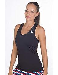 a40grados Sport & Style Cielo Camiseta De Tirantes, Mujer, Negro, ...