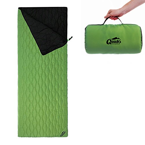 Qeedo Holly Deckenschlafsack (230 x 80 cm) inkl. Pillowbag - grün