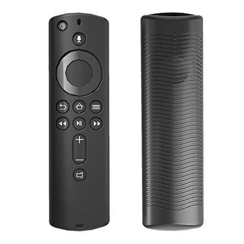 only y Étuis de Télécommand en Silicone Amazon Fire TV, Coque de Protection Télécommande Housse Anti-Chute pour Amazon Fire TV Stick 4K Télécommande (Noir)
