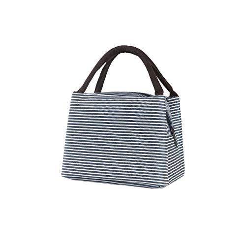 Fittolly termica pranzo borse - termica impermeabile borsa porta pranzo - per scuola ,ufficio e picnic (blu)