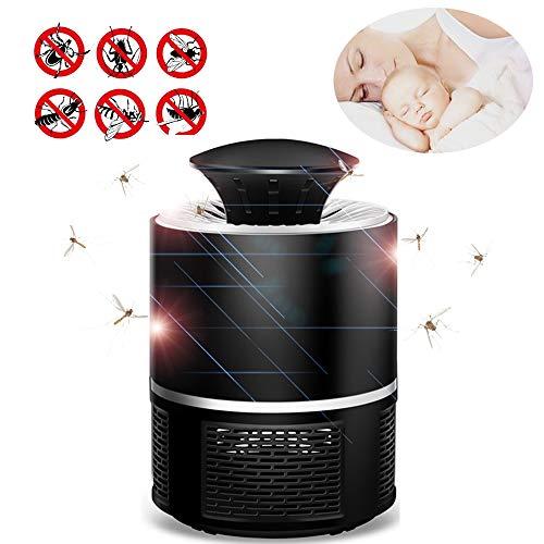 szy Mosquito Killer eléctrica, matainsectos lámpara de luz ultravioleta lámpara Mosquitera con ventilador dispositivo Atrapa mosquitos matainsectos Mosquitera Trampa, sin sustancias químicas, olores, sensor de luz