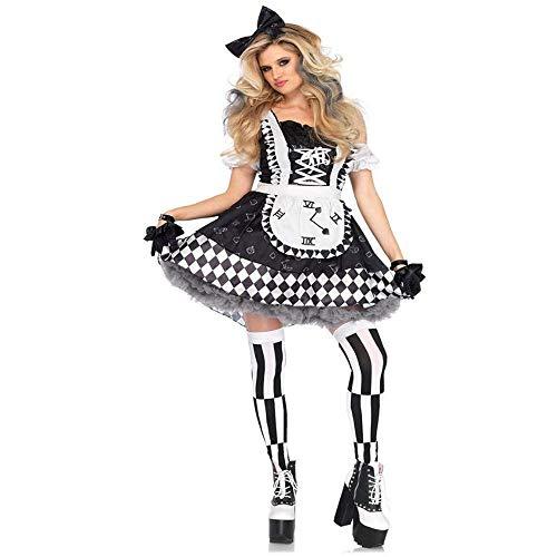 Fashion-Cos1 Sexy Lustige Zirkus Clown Kostüm Frech Harlekin Kostüm Uniform Erwachsene Halloween Cosplay Kleidung Für Frauen (Size : L)