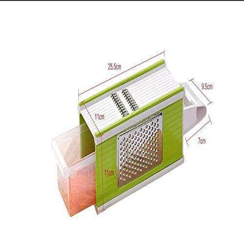 Naive water flow 4-In-1 Pflanzliche Slicer Edelstahl Pflanzliche Slicer Pflanzliche Rasierer Kreative Küche Mit Kartoffel - Gadget,Grüne