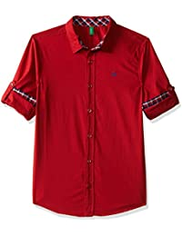 United Colors of Benetton Boys' Plain Regular Fit Shirt