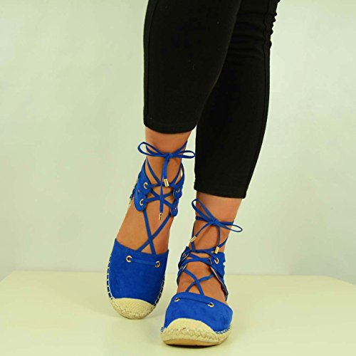 Cucu Fashion ,  Damen Knöchel-Riemchen Blau