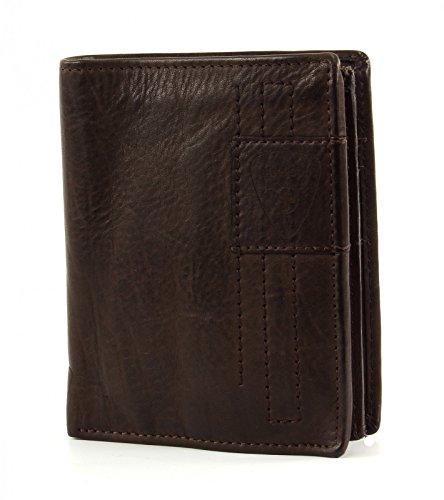 Strellson Upminster Porte-monnaie cuir 10 cm darkbrown