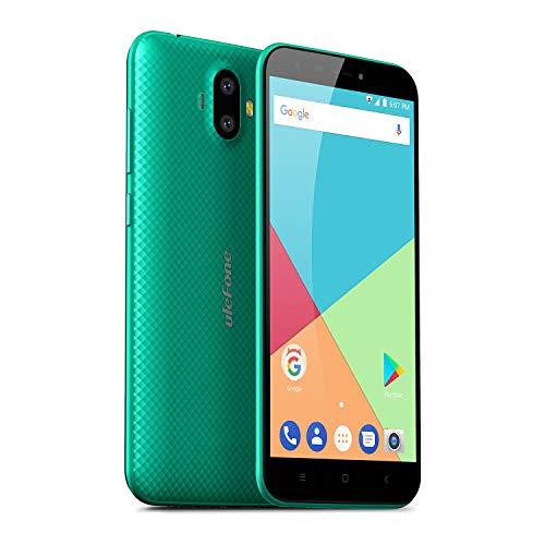 Ulefone S7 (2GB+16GB) - Smartphone Libre Textura de Superficie 3D única, 5.0', 720 * 1280, Android 7.0, 2GB+16GB, Batería 2500mAh, Cámara de 13+5MP/5MP, MTK 6580A Quad-Core, Dual SIM (Verde)