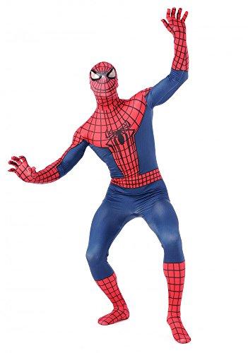Herren Ganzkörperanzug Spider-Man Kostüm Superhero Hero Held Comic Superheld, (Ganzkörperanzug Spiderman)