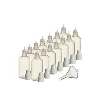 14 x 100 ml Liquidflaschen mit Füll-Trichter für E-Liquids E-Zigaretten e-shisha Plastik-flasche Dosier-flasche Spritz-flasche Leer-flasche Tropf-flasche Quetsch-flasche Nadel-flasche PP