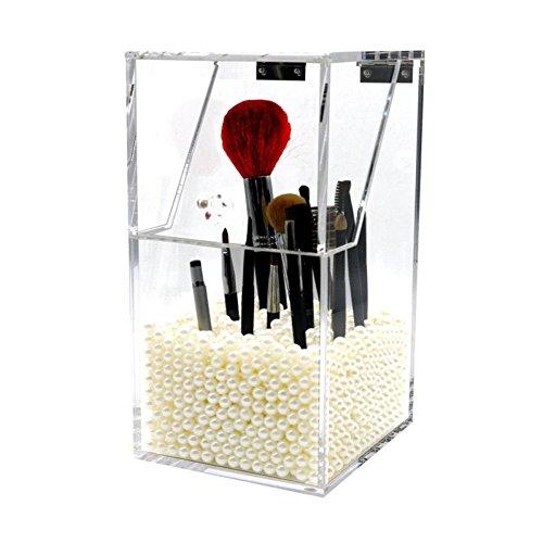 Organisateur de Maquillage, Xjp Acrylique Porte-pinceau de Maquillage Boîtes Cosmétiques