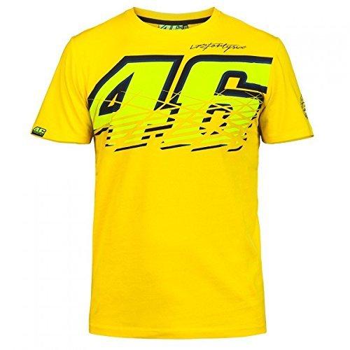 SANDO Herren T-Shirt VR46Valentino Gelb , Medium