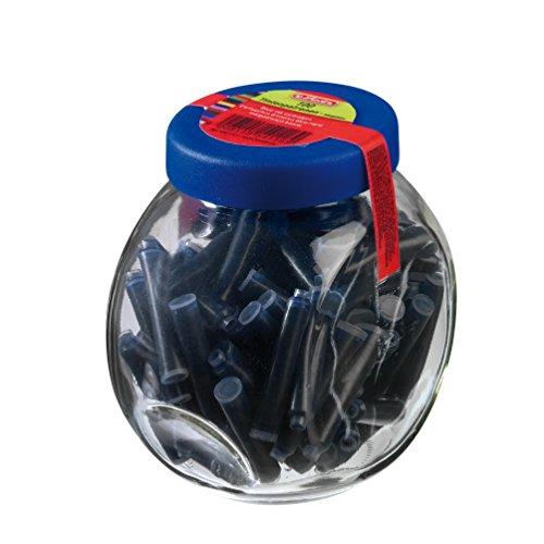 Herlitz Tintenpatronen Im Glas mit Schraubverschluß, 100 Stück