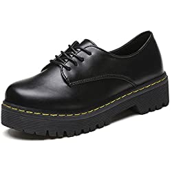 Zapatos interiores, Amlaiworld Vintage Martin Botas (38, Negro)