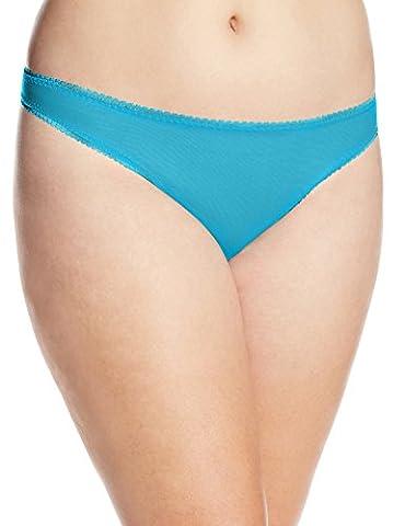 OnGossamer Women's Mesh Plus Hip G Thong Panty, Deep Teal, 1X