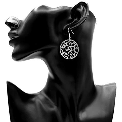 Ohrringe STARS | nickelfrei | Edelstahl | Ohrhänger | Ohrringe hängend | Anhänger | Herzenswunsch und Ziele -