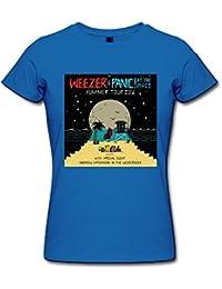 Greucy-darkCAI Women's Weezer And Panic At The Disco Tour 2016 T-Shirt