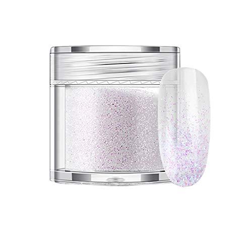 yuyuanDO Nail Art Verre Artisanat De Vin Décoration Un Flash Glitter Rainbow Couleur Poudre Glitter Poudre Maquillage Des Yeux (L)