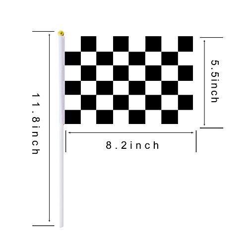 lagge, kleine Mini-Flaggen, 30 Stück, schwarz und weiß Karierte Flagge, Rennwimpel, Rennwimpel, Party, Sportveranstaltungen, Geburtstag, Feier ()